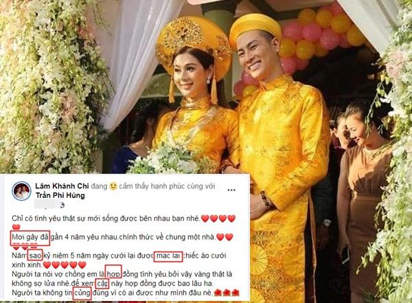 Bị mỉa mai cưới chồng trẻ theo 'hợp đồng', Lâm Khánh Chi đáp trả gay gắt nhưng lại sai chính tả quá nhiều