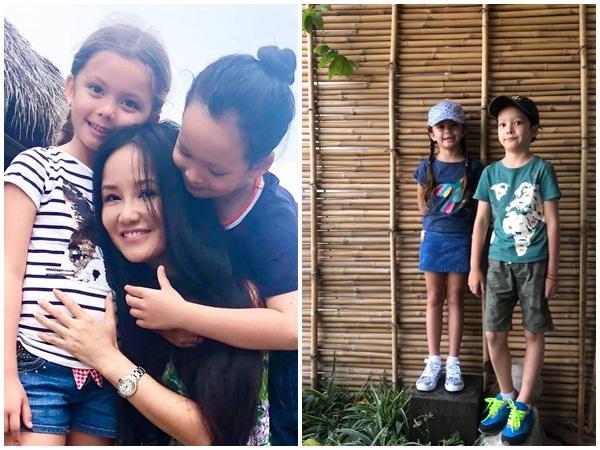 Bố lấy vợ mới, hai con nhà Hồng Nhung ngày càng trưởng thành khiến mẹ nghẹn ngào