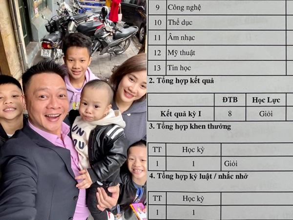 BTV Quang Minh khoe thành tích học tập 'khủng' của con trai, ai xem cũng trầm trồ