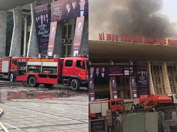 Cháy lớn ở Cung văn hoá Hữu nghị Việt Xô, liveshow Quang Hà phải hoãn