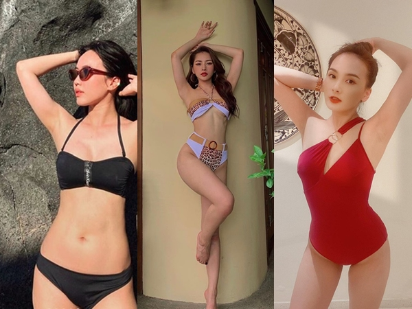 """Chỉ một dáng truyền thống, mỹ nhân Việt """"ganh"""" độ nóng với bikini"""