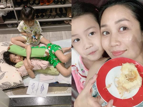 Cuộc sống của mẹ 3 con Ốc Thanh Vân, đi vệ sinh cũng không yên vì hành động 'dở khóc dở cười' của các con