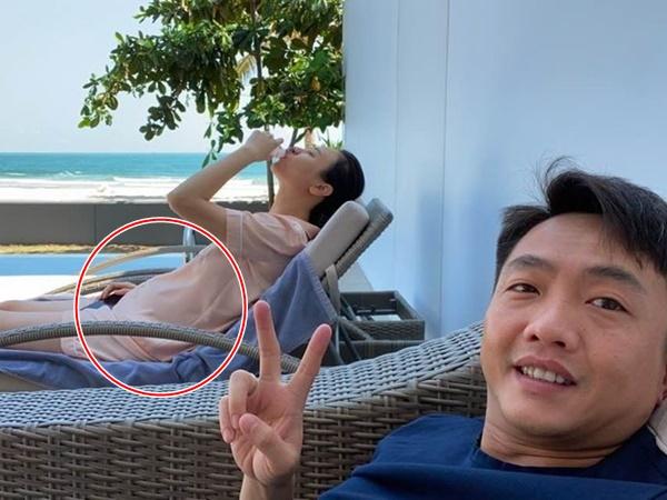 Cường Đô la khoe ảnh Đàm Thu Trang bụng tròn xoe, bạn bè thi nhau chúc mừng 'bầu rồi kìa'
