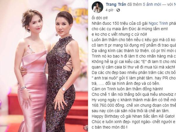 Cựu người mẫu Trang Trần tiết lộ điều không ngờ về Ngọc Trinh