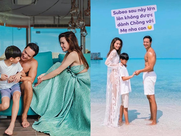 Dân mạng phẫn nộ khi người mẫu trẻ nhắn bé Subeo: 'Lớn lên không được giành chồng với mẹ'