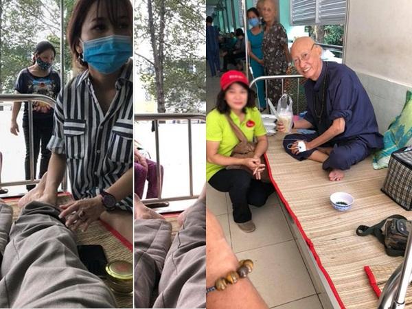 Nghệ sĩ Lê Bình nằm giường hành lang, ăn cơm từ thiện khi trở lại bệnh viện trị ung thư