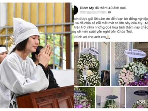 Diễm My 9x thay mặt gia đình cám ơn mọi người sau tang lễ của mẹ, dàn sao Việt đồng loạt gửi lời động viên hết lòng