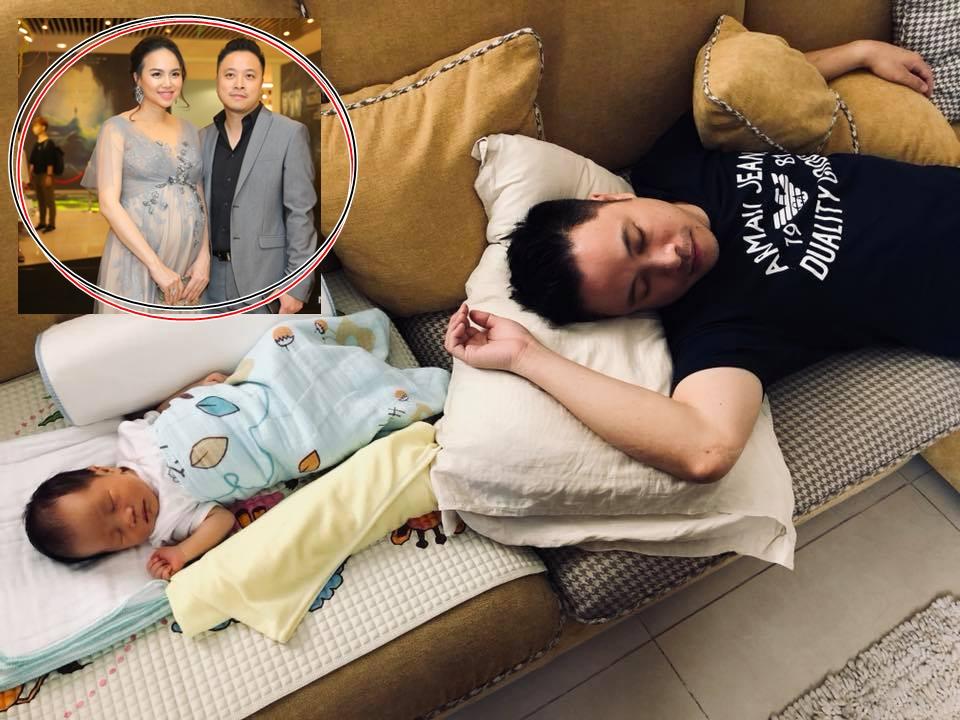 Khoe con trai mới sinh, vợ chồng Đinh Ngọc Diệp gây sốt MXH với khoảnh khắc 'cha nào con nấy' siêu cute