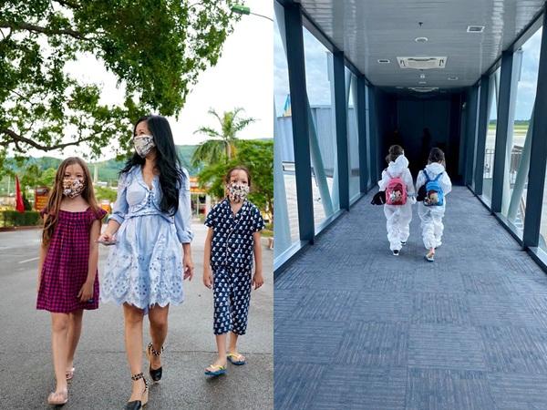 Diva Hồng Nhung và 2 con chính thức được về nhà, lộ hình ảnh đầu tiên sau khi rời khu cách ly