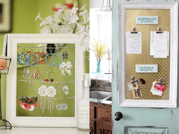 Đừng vội vứt khung ảnh cũ vì bạn sẽ có hẳn 9 cách tái sử dụng hữu ích cho không gian sống của gia đình
