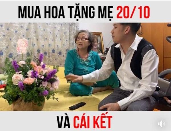 Mua hoa tặng mẹ dịp 20/10, em trai Hoài Linh bị nói quá phũ: 'Sao không mua vàng'