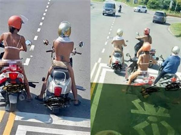 Gái xinh mặc bikini lượn lờ trên phố như chốn không người, khiến bác tài muốn 'buông vô lăng'
