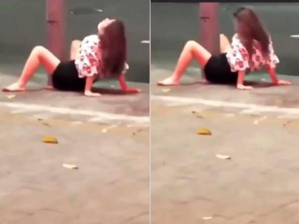 Say xỉn đến mất kiểm soát, hot girl có hành động 'nhạy cảm' giữa đường khiến ai chứng kiến cũng sốc nặng