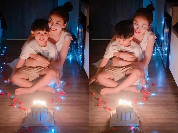 """Hậu tin đồn ly hôn, Hoa hậu Diễm Hương đón sinh nhật tuổi 30 bên con trai, thừa nhận ám ảnh với từ """"già"""""""