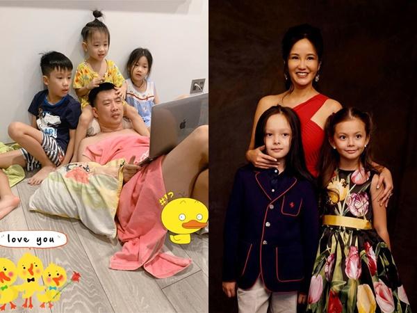 Hé lộ lý do Ốc Thanh Vân và Hồng Nhung cho con trai để tóc dài mượt như bé gái