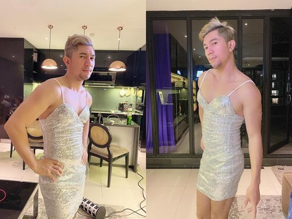 Hết trò làm lố, Lương Bằng Quang mặc cả váy của Ngân 98 chụp ảnh khiến dân tình từ chối hiểu