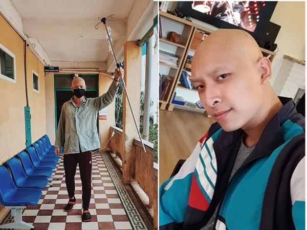 Xót xa hình ảnh người mẫu Anh Vũ cạo trọc đầu vì bệnh ung thư tinh hoàn