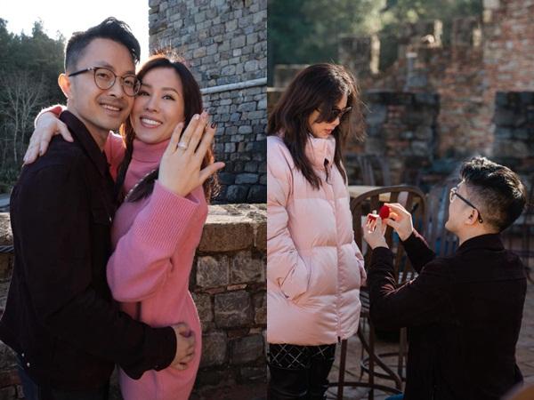 Hoa hậu Thu Hoài được bạn trai kém 10 tuổi quỳ gối cầu hôn bằng nhẫn kim cương 'khủng'