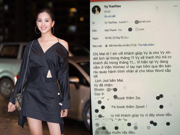 Hoa hậu Tiểu Vy bị mạo danh kí hợp đồng với nhãn hàng và tung tin gặp tai nạn đang nằm viện