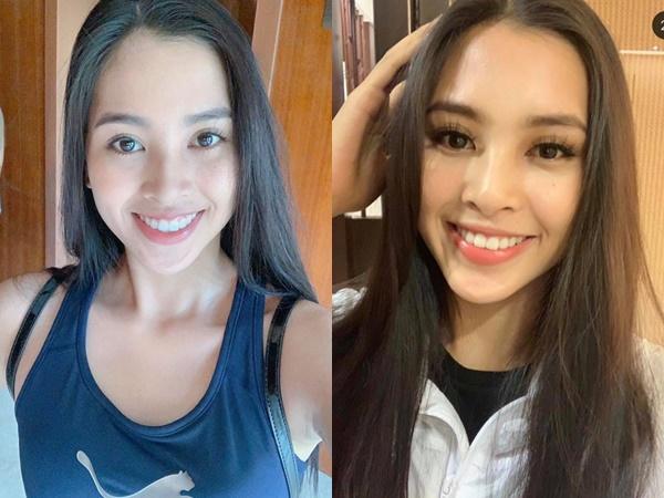 Hoa hậu Tiểu Vy khoe vẻ đẹp mĩ nhân qua ảnh 'selfie' sau một ngày tập luyện
