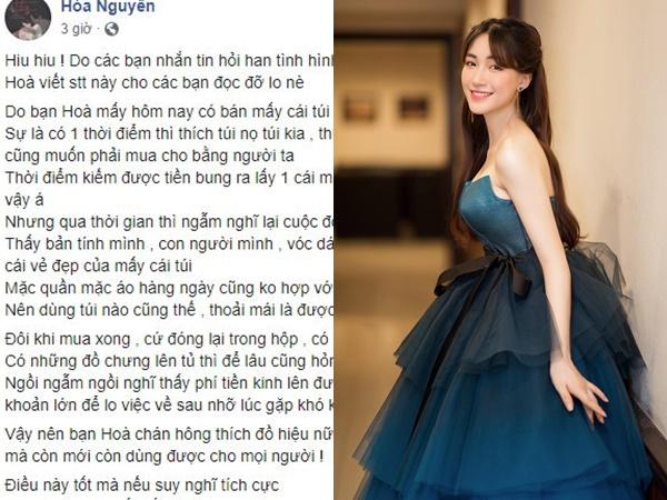 Hòa Minzy viết tâm thư an ủi fan trước nghi vấn nghỉ hát, tập trung kinh doanh đồ hiệu