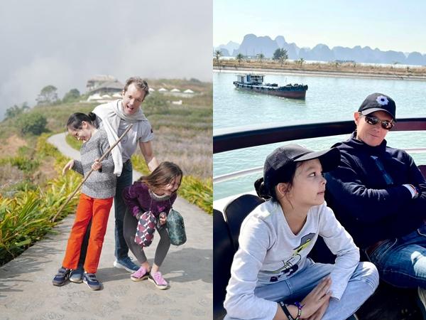 Hồng Nhung thoải mái khoe ảnh bạn trai Tây thân thiết bên 2 con song sinh, sao Việt đồng loạt chúc mừng