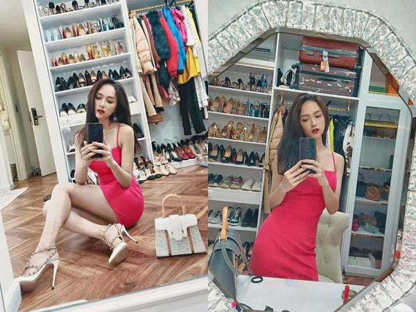 Khoe tủ hàng hiệu cả tỷ bạc nhưng chi tiết này mới khiến Hoa hậu Hương Giang được chú ý nhất
