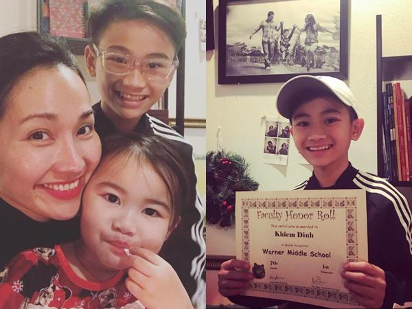 'Út Ráng' Kim Hiền tự hào khoe thành tích học tập đáng nể của con trai