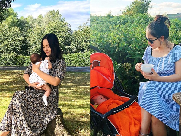 Lan Phương tiết lộ cuộc sống thật của cô và con gái khi sang Anh thăm gia đình chồng