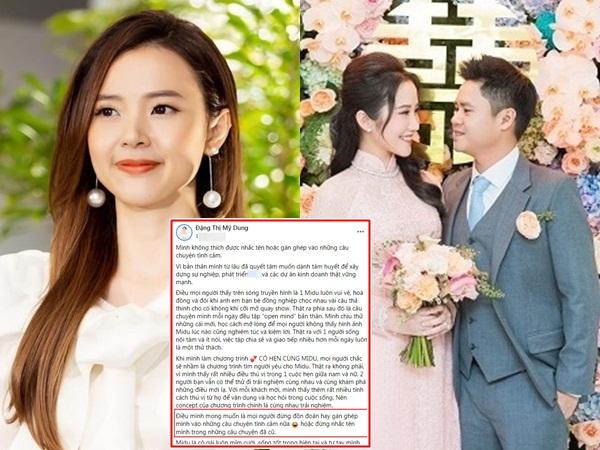 Liên tục bị 'réo tên' khi tình cũ Phan Thành đính hôn, Midu lên tiếng khẩn cầu dân mạng một điều