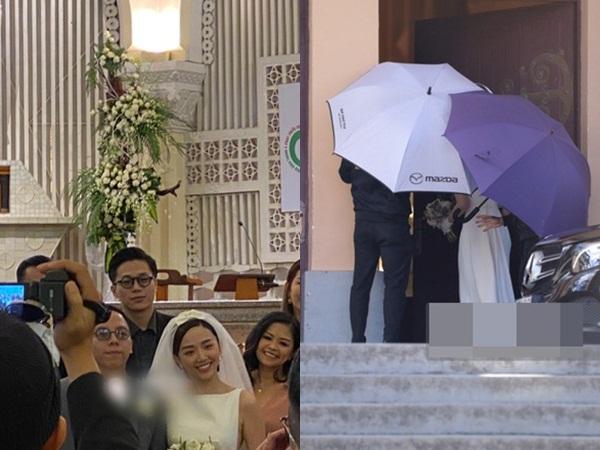 Lộ ảnh hiếm trong đám cưới Tóc Tiên, cô dâu chú rể cười hạnh phúc trong ngày 'chung đôi'