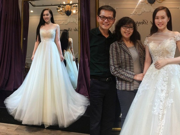 Lộ ảnh NSND Trung Hiếu đưa bạn gái kém 19 tuổi đi thử váy cưới, cô dâu xinh như thiên thần