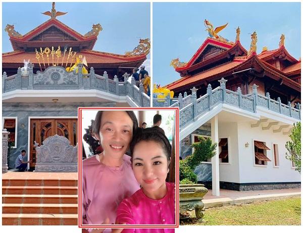 Lộ hình ảnh đầu tiên về ngôi đền mới xây hoành tráng trong nhà thờ Tổ 100 tỷ của Hoài Linh