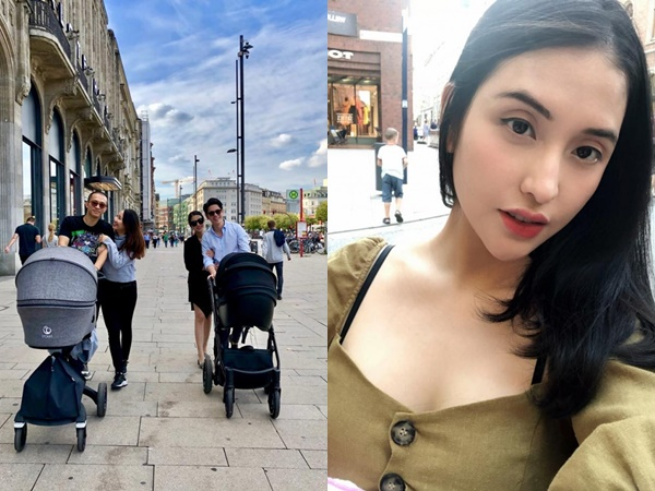 Mai Hồ xuất hiện xinh đẹp, hạnh phúc bên chồng Việt kiều sau sinh con