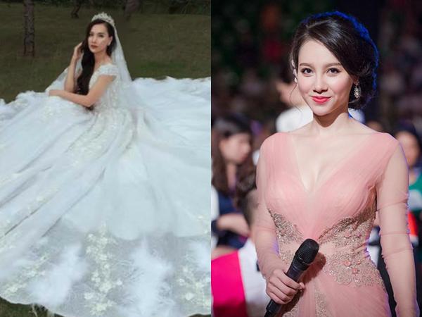Khoe ảnh diện váy cưới đẹp lung linh, MC Minh Hà sắp 'lên xe hoa'?