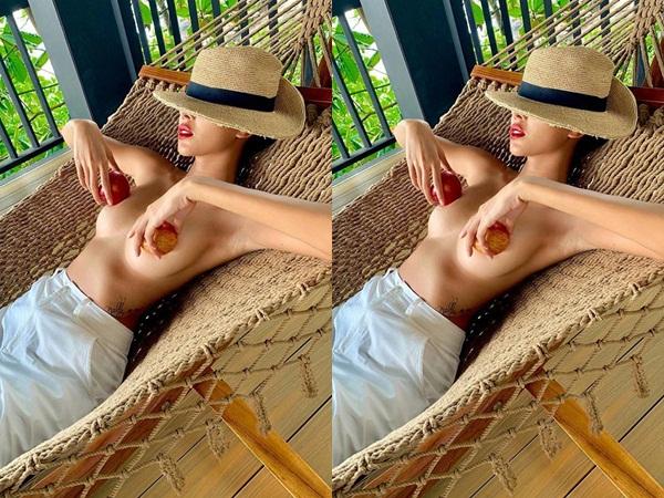 Minh Triệu chơi lớn, cởi 'trần như nhộng' khoe ngực khủng, nằm đưa võng cho mát