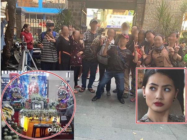 Ngọc Lan bức xúc trước cảnh nhiều người đu bám, chụp ảnh cười đùa tại đám tang Anh Vũ