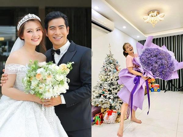 Ngọc Lan khoe được người bí ẩn tặng hoa hậu ly hôn, dân mạng đoán 'Thanh Bình chứ ai'