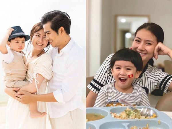 Ngọc Lan vẫn không yên tâm để Thanh Bình chăm con trai bị ốm, dù trước đó hết lời khen ngợi ông xã đảm đang