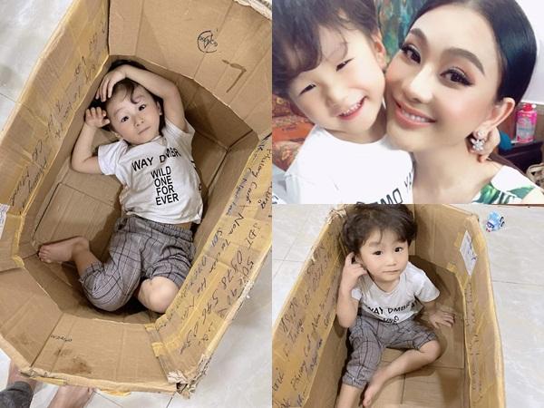 Sinh ra từ tinh trùng của mẹ, giờ nhìn con trai Lâm Khánh Chi mọi người lại nhận xét giống ba Phi Hùng như đúc