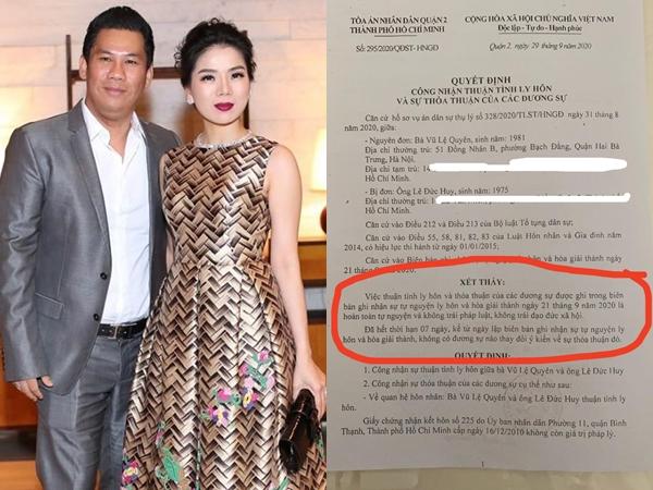 Nóng: Lệ Quyên chính thức xác nhận đã ly hôn, tiết lộ mối quan hệ hiện tại với chồng cũ
