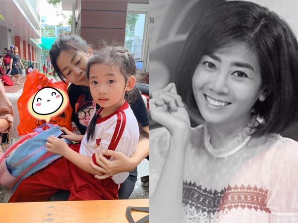 """Ốc Thanh Vân xót xa chia sẻ hình ảnh nghệ sĩ Mai Phương đưa con gái đi học: """"Em chỉ mới là phụ huynh học sinh lớp 1 thôi mà"""""""