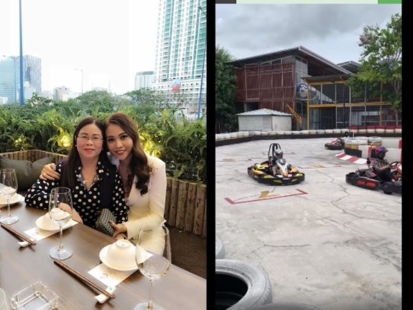 Phản ứng bất ngờ của mẹ Đàm Thu Trang khi Cường Đô la đưa Subeo và con gái cùng đi đua xe