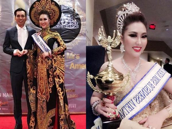 Vừa đăng quang, tân Hoa hậu Doanh nhân Thế giới người Việt 2017 - Phi Thanh Vân đã bị Cục Nghệ thuật biểu diễn 'sờ gáy'