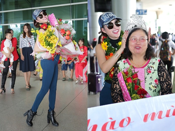 Vừa đáp xuống sân bay, tân Hoa hậu Doanh nhân Phi Thanh Vân gây choáng váng với hành động 'bá đạo' này