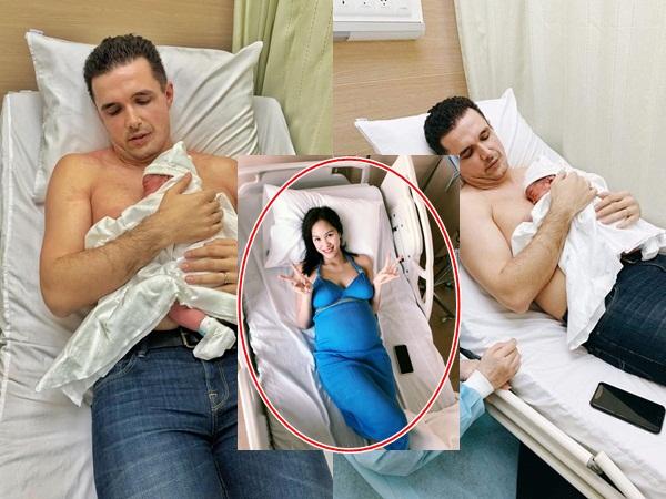 Phương Mai sinh con đầu lòng sau 5 tháng cưới, lộ hình ảnh đầu tiên của em bé
