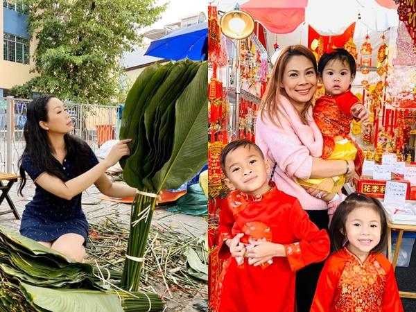 Sao Việt chuẩn bị Tết: Thanh Thảo trang trí nhà tại Mỹ, Trịnh Kim Chi chọn lá dong gói bánh chưng