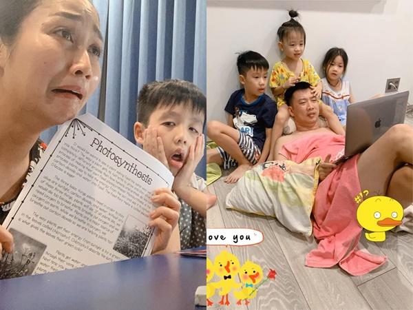 Sao Việt rảnh rỗi mùa dịch Covid-19, riêng Ốc Thanh Vân vẫn 'đầu bù tóc rối' vì 3 con nhỏ