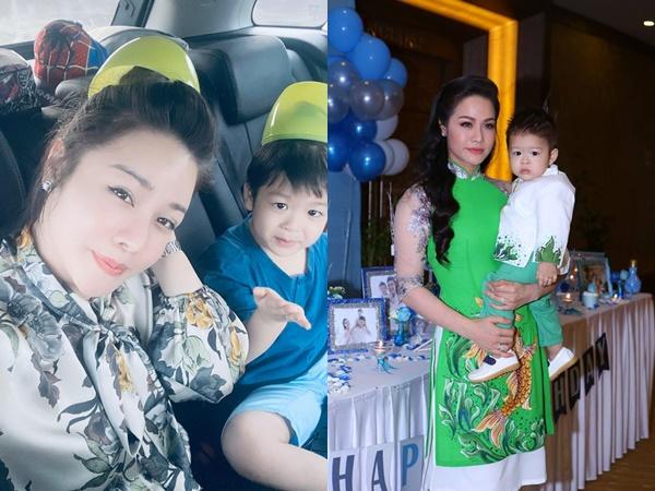Sau 2 năm ròng rã, ca sĩ Nhật Kim Anh hạnh phúc vì lần đầu được tự chở con trai đi chơi