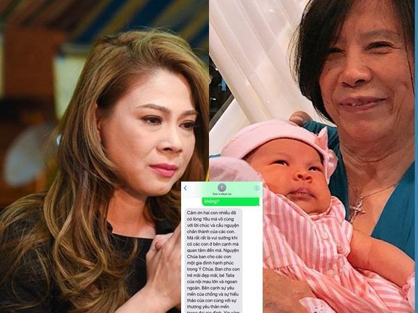 Sinh con ở tuổi 41, Thanh Thảo 'khóc nghẹn' khi nhận được tin nhắn này từ mẹ chồng